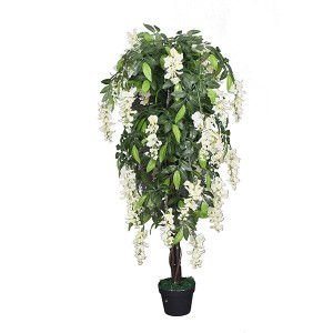 Factory price promotion artificial event 120cm decoration tofu pudding tree artificial flower pot tree