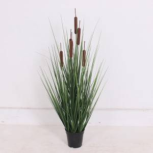 Hot Sale High Quality Decorative Artificial Potted Onion Grass Plant