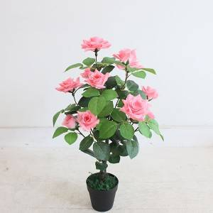 Wholesale Artificial Plants Plastic Bonsai Beautiful Faked Rose Plants Bonsai for Home Wedding Party Garden Ornamental Decor