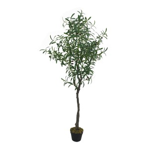Hot Selling Plastic Faux Plant Silk Leaf Artificial Olive Tree with Olive Branch Artificial Olive Plant