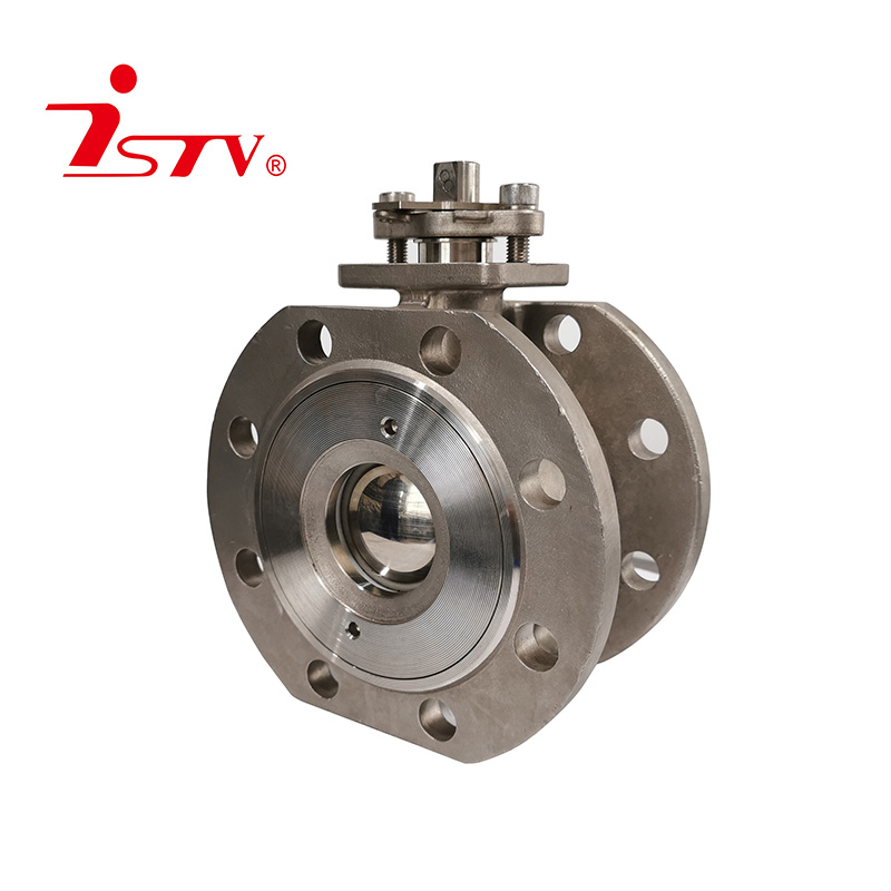 Italian short type wafer thin flange ball valve