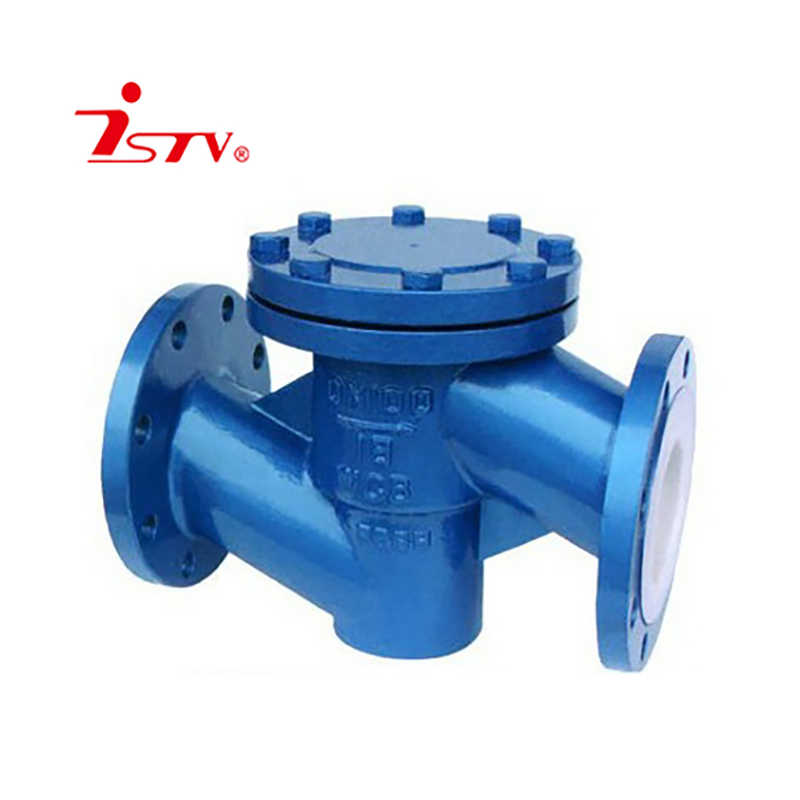 PTFE lined lift check valve