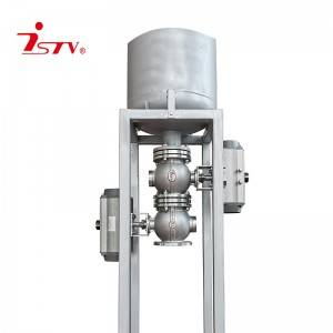 Slurry discharging combination valve