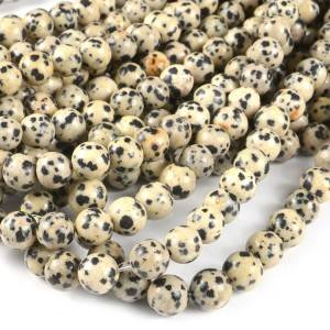 Natural dotted loose beads factory wholesale balmatin beads