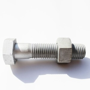 Hot-dip galvanized hexagonal bolt