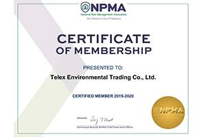Telex Environmental Trading Co., Ltd.( A Jinglong branch) has joined the NPMA.