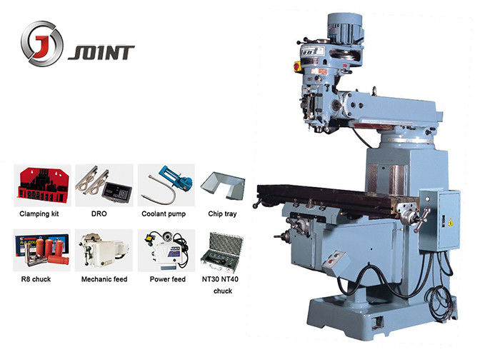 Strong Cutting Turret Type Milling Machine With Variable Speed Milling Head