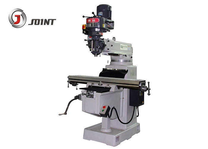 1270 * 254 * 80mm Turret Head Milling Machine With 410mm Spindle Table Distance