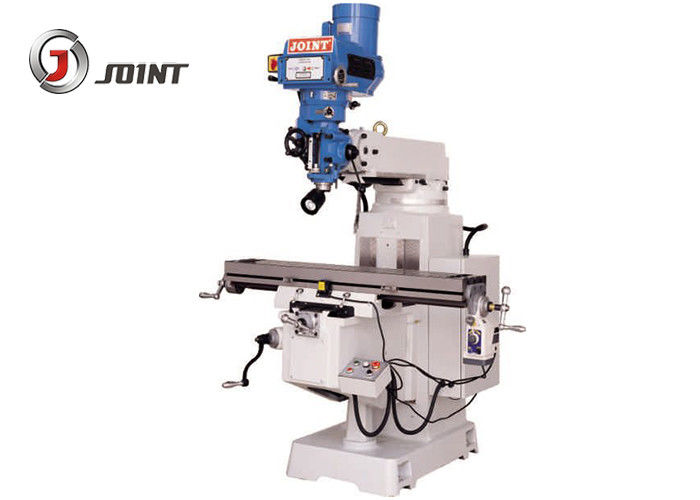 1000mm X Axis Travel Turret Milling Machine , 3HP Knee Type Milling Machine
