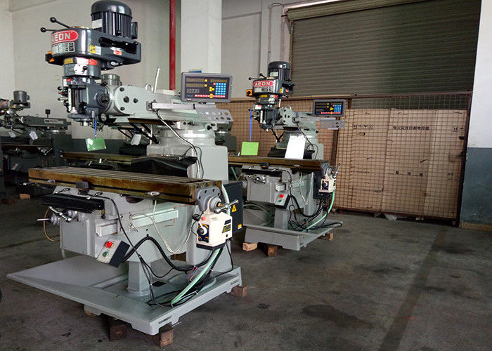 2.2kw Power Universal Turret Milling Machine Bearing 390mm Max Distance For Industry