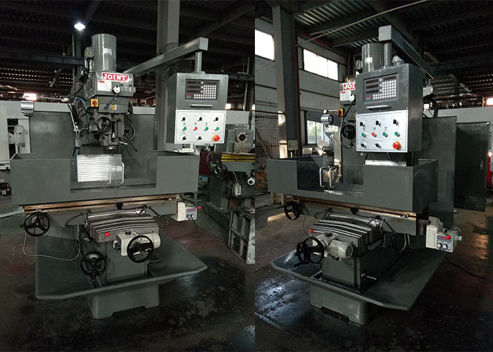 54 Inch Turret Milling Machine , Heavy Work Pieces Processing Bed Type Milling Machine