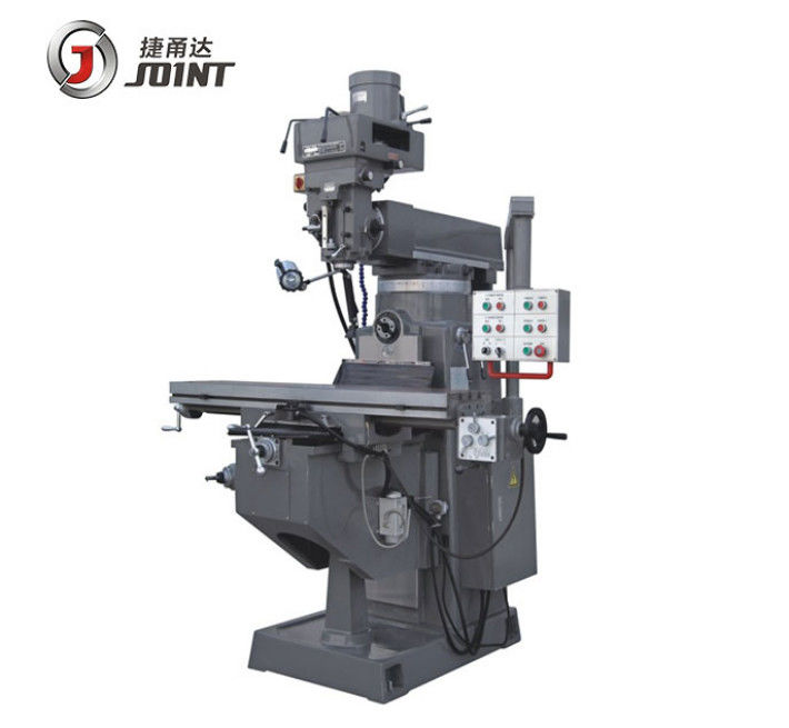 1372*330mm Table Size Horizontal Turret Milling Machine By 150mm Spindle Quill