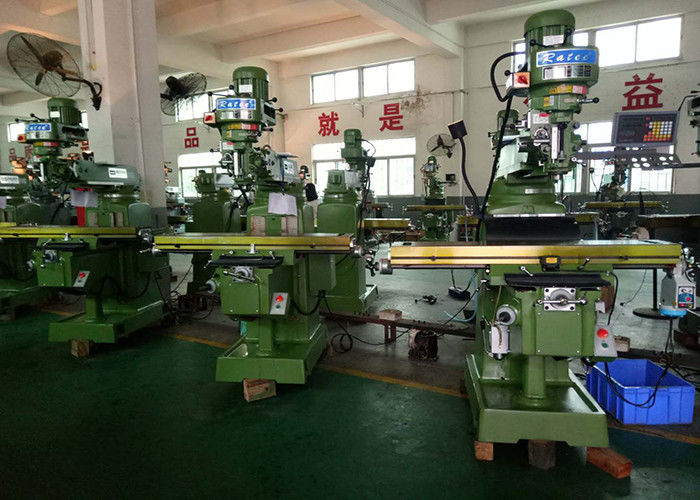 ISO30 / R8 Spindle Turret Milling Machine With 0.005mm Tolerance Automated