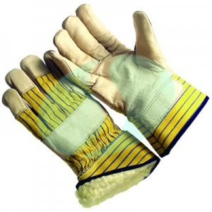 CAPL368 leather palm winter gloves