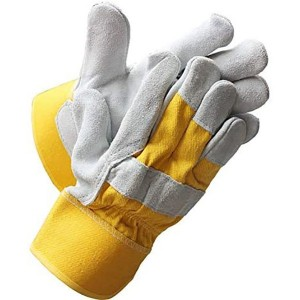 Heavy Duty Industrial Safety Gloves cowhide split Leather palm Gloves