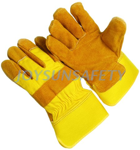 Manufacturing Companies for Chain Glove For Cutting - CB322 yellow leather palm gloves – Joysun