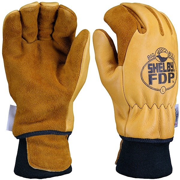 Cowhide Leather Industrial winter Work Gloves Featured Image