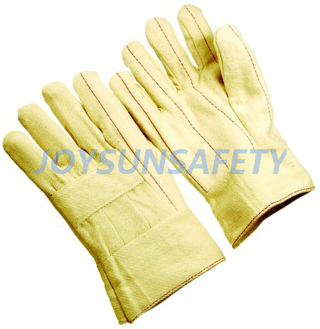 CTHM103 cotton hot mill gloves gauntlet