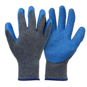 Blue Rubber Latex Coated Utility Gloves
