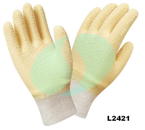 L2421 latex coated gloves