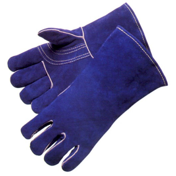 blue long leather fire resistant welding gloves Featured Image
