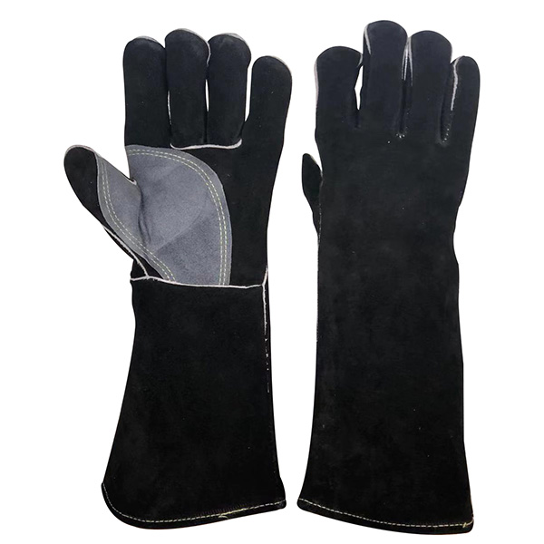Fire Resistant Long Leather Gloves Fireplace Safety Gloves Featured Image