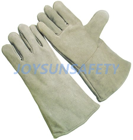 China Cheap price Diesel Fuel Resistant Gloves - WCBN01 grey welding leather gloves  – Joysun