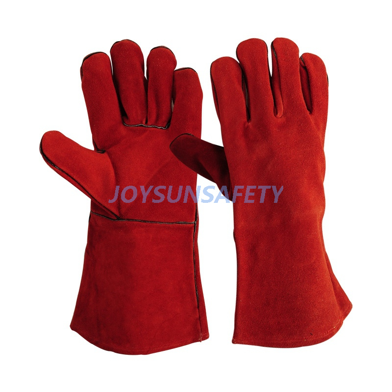 Online Exporter Women Wearing Driving Gloves - WCBR01 red welding gloves  – Joysun