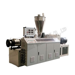 Conical double-screw extruder