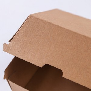 Corrugated food box