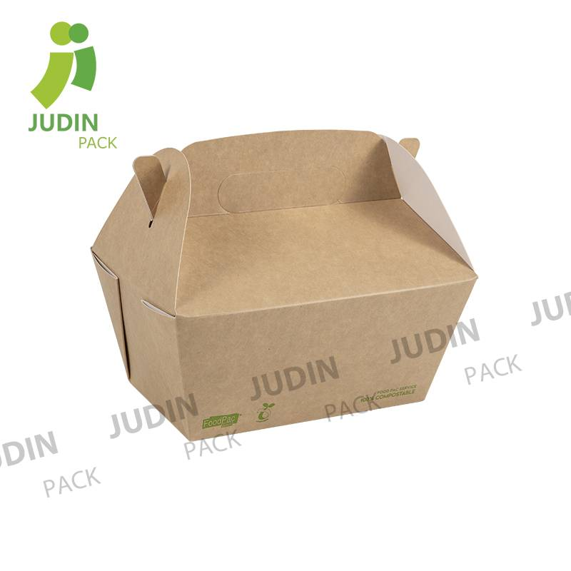 A very popular take out lunch box with handle in Europe