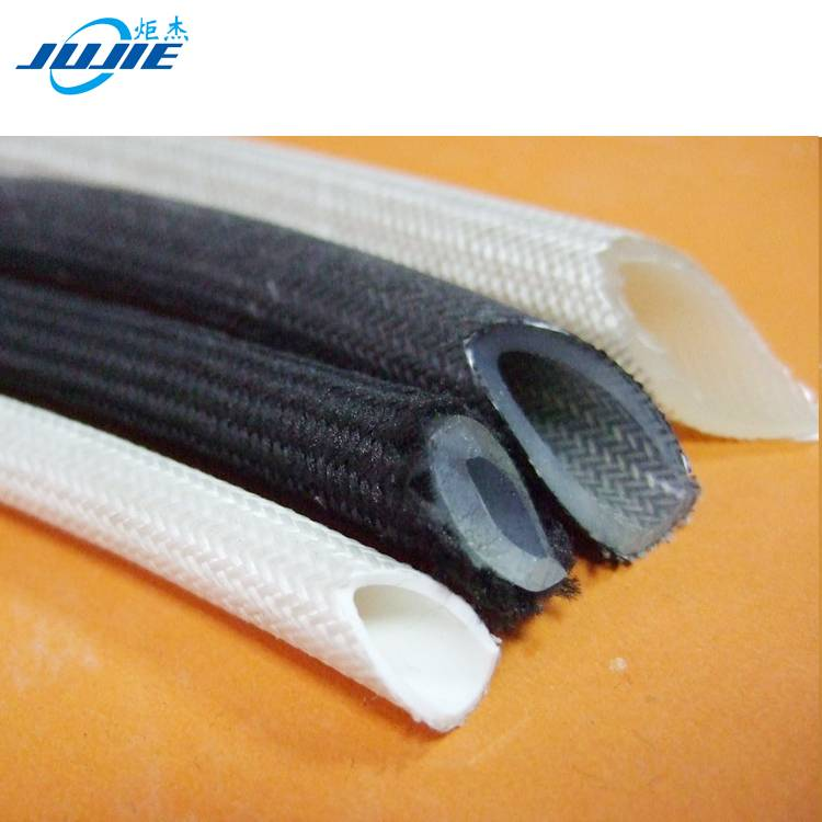 fiberglass silicone rubber braided tube
