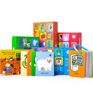 Custom Kids Educational Flash Cards With Pp Ring
