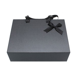Black Drawer Box For Clothing With Handle