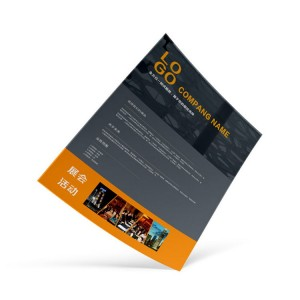 product advertisement flyers and posters with logo UV