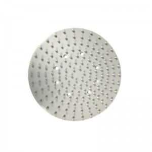 White Round Shower Silicone Gasket – Front