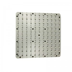 Grey-White Square Shower Silicone Gasket