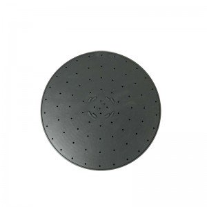 Black Round Shower Silicone Gasket – front