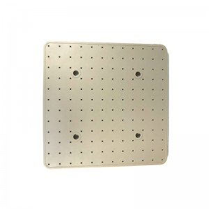 Light-Yellow Square Shower Silicone Gasket – front