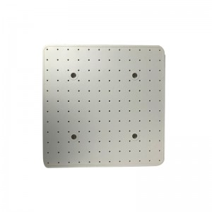 White Square Shower Silicone Gasket – front