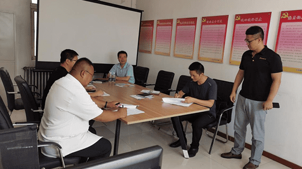 Chiefs of Taihe District Science and Technology Bureau and School of materials of Liaoning University of technology came to our company for investigation