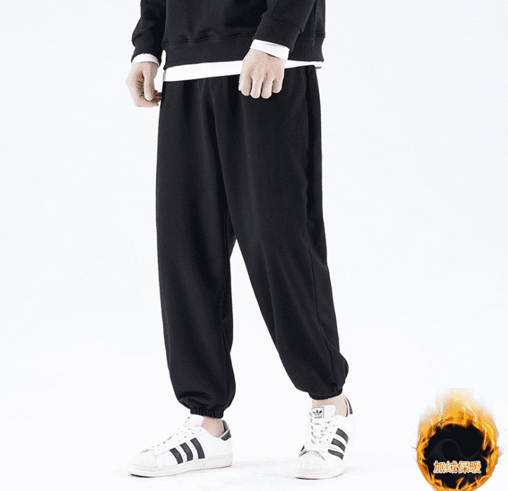 2021 spring Autumn New Webbing-Trimmed Track Pants Men Casual Jogger Sweatpants Tapered Striped Comfortable Trousers