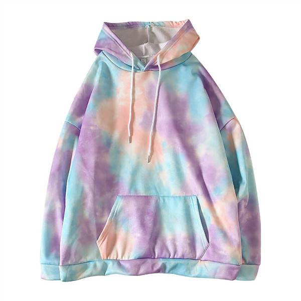 Tie dye Hoodie Women Drawstring Oversized Hoodies Women Autumn Long Sleeve Sweatshirts Casual Pullover Hoddies Featured Image