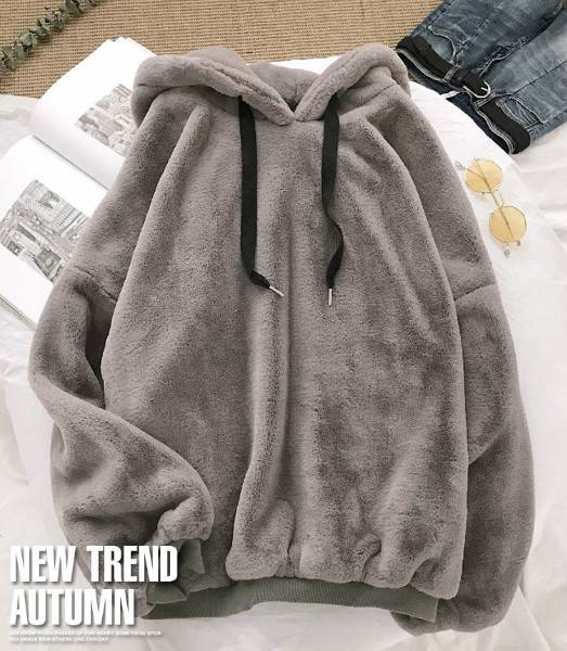 Women Loose Hoodies Pullover Casual Long Sleeve Sweatshirts Tops Sweatshirts Winter Featured Image