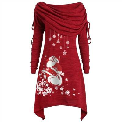 Women Spring Dress Long Sleeve Loose Casual  Plus Size Dress Retro Ladies Pocket  Midi Dresses Featured Image