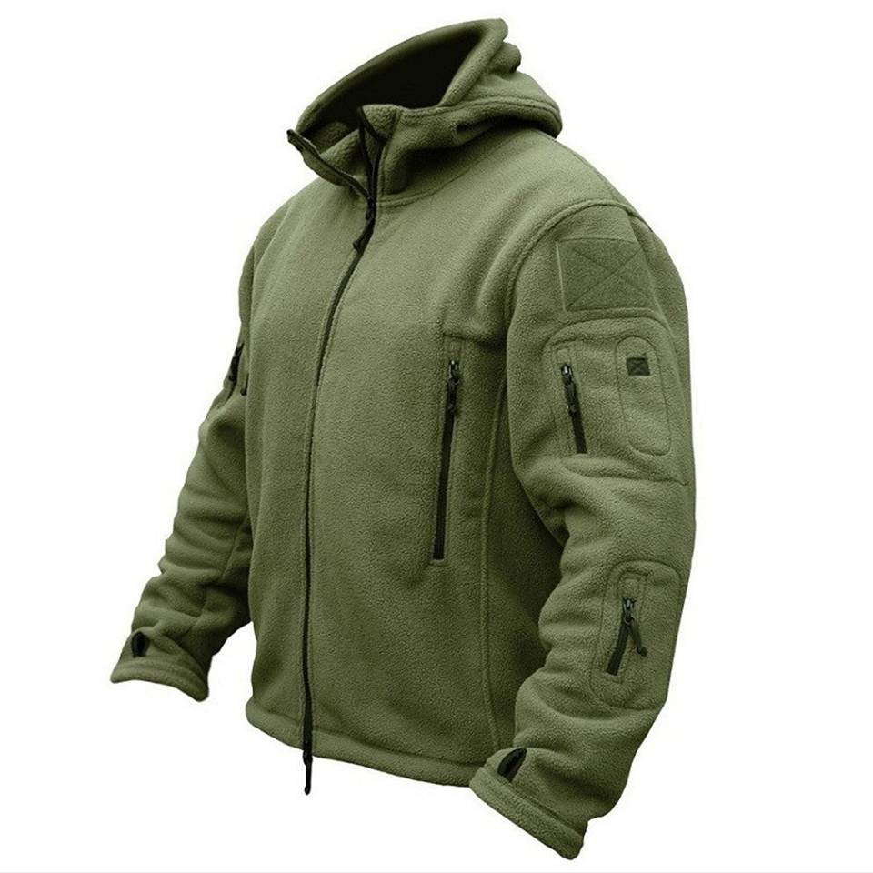 Men US Military Winter Thermal Fleece Tactical Jacket Outdoors Sports Hooded Coat Militar Softshell Hiking Outdoor Army Jackets Featured Image