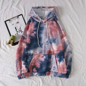 Tie dye Hoodie Women Drawstring Oversized Hoodies Women Autumn Long Sleeve Sweatshirts Casual Pullover Hoddies