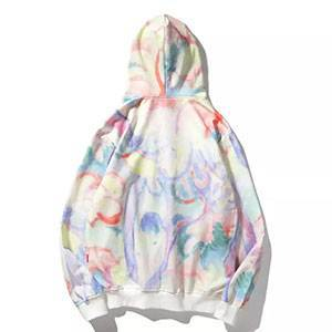 Tie-dye Hoodie Oil Painting Cloud Hoodie Men's and Women's Coats Korean Pullover Hooded Blouse Men's