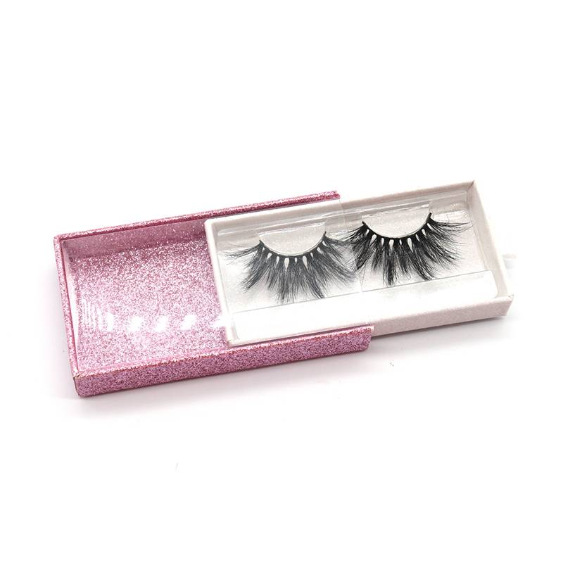 Private Label False Eyelash Packaging Box Wholesale 25mm 100% Mink Eyelashes
