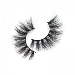 Factory Wholesale Fluffy 3d 100% Mink Eyelashes Vendor With Custom Eyelash Packaging